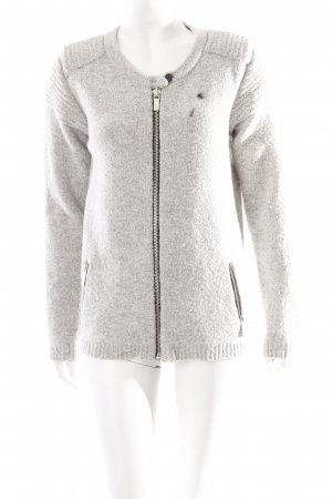 Maison Scotch Strickjacke grau schlichter Stil