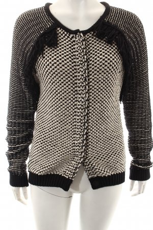 Maison Scotch Strickjacke schwarz-creme Casual-Look