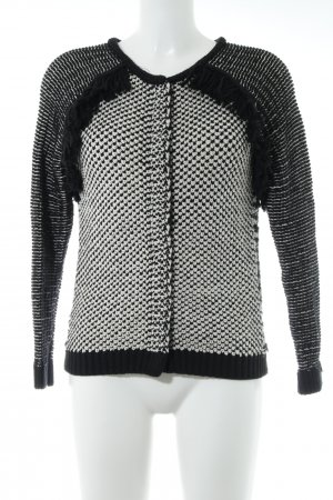 Maison Scotch Strickjacke schwarz-wollweiß Casual-Look