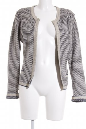 Maison Scotch Strickjacke stahlblau-hellbeige Casual-Look