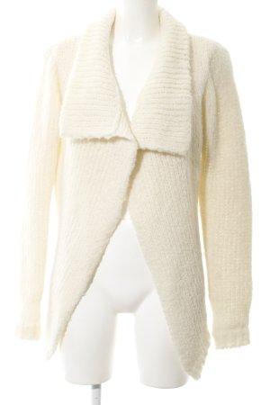 Maison Scotch Manteau en tricot blanc cassé style décontracté