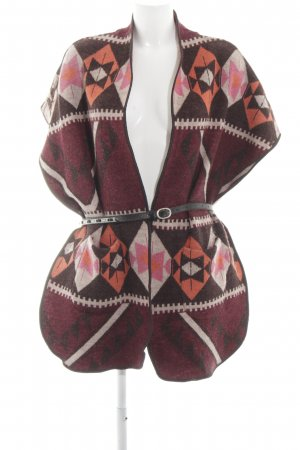 Maison Scotch Strickponcho abstraktes Muster Casual-Look