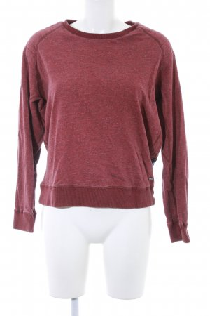 Maison Scotch Strickpullover karminrot-blau meliert Casual-Look