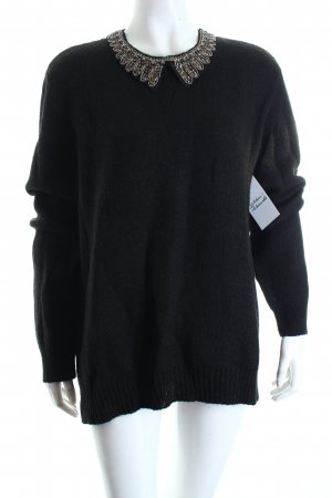 Maison Scotch Strickpullover schwarz Casual-Look