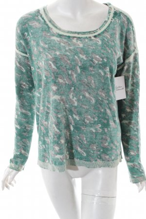 Maison Scotch Knitted Sweater silver-colored-green color gradient casual look