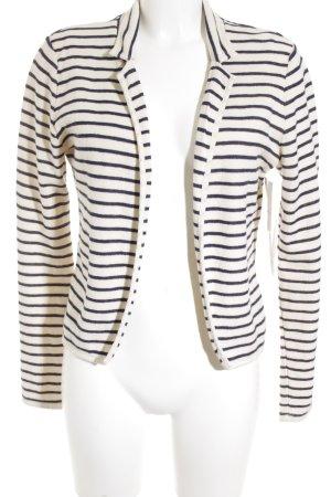 Maison Scotch Sweat Blazer cream-dark blue striped pattern casual look