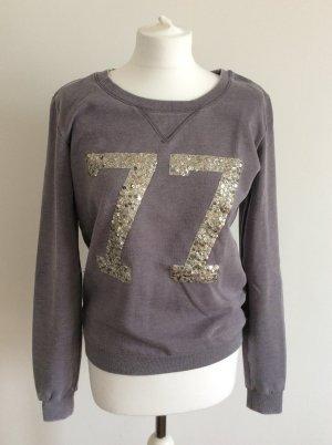 Maison Scotch Sweater mauve goldene Pailetten Gr.2
