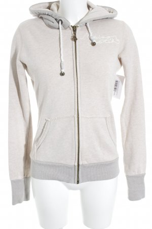 Maison Scotch Sweat Jacket cream-beige embroidered lettering athletic style