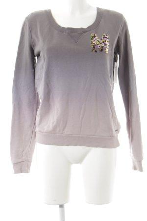 Maison Scotch Sweatshirt altrosa-blasslila Farbverlauf Street-Fashion-Look