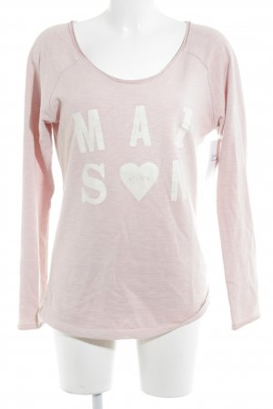 Maison Scotch Sweatshirt altrosa meliert Logo-Applikation