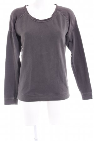 Maison Scotch Sweatshirt anthrazit Materialmix-Look