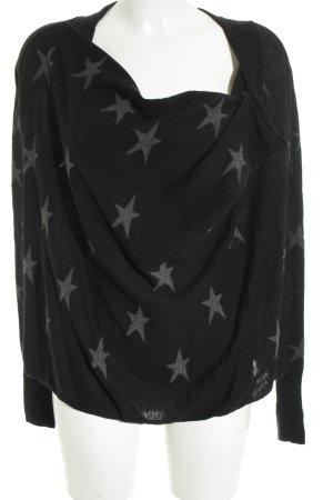 Maison Scotch Sweatshirt dunkelblau-grau Sternenmuster Casual-Look
