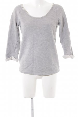 Maison Scotch Sweatshirt hellgrau-weiß Casual-Look