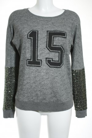 Maison Scotch Sweatshirt meliert Glitzer-Optik