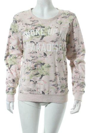 Maison Scotch Sweatshirt rosé Schriftzug gedruckt Casual-Look