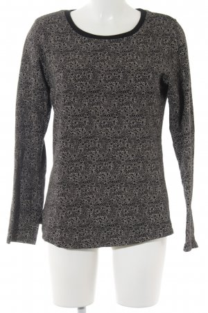 Maison Scotch Sweatshirt schwarz-creme abstraktes Muster Casual-Look