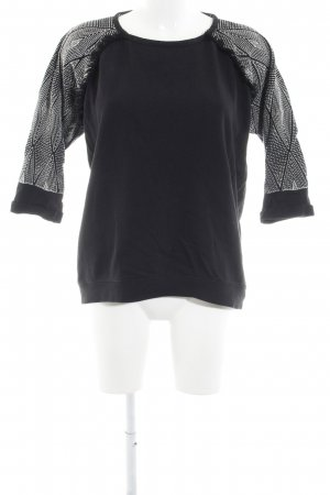 Maison Scotch Sweatshirt schwarz-weiß Country-Look