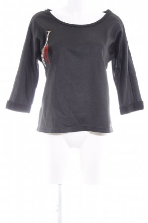 Maison Scotch Sweatshirt schwarz-wollweiß Casual-Look