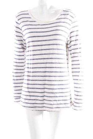 Maison Scotch Sweatshirt wollweiß-blau Streifenmuster