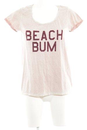 Maison Scotch T-Shirt altrosa-rosé Farbverlauf Casual-Look