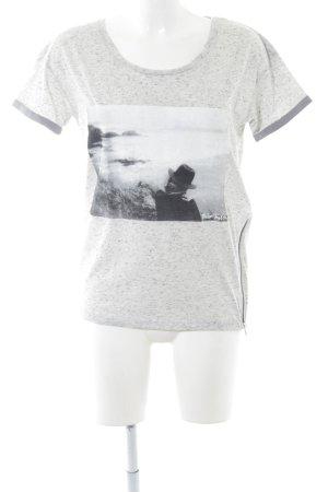 Maison Scotch T-Shirt hellgrau meliert sportlicher Stil