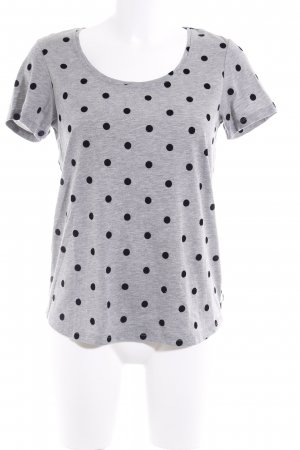 Maison Scotch T-Shirt grau-schwarz Punktemuster Casual-Look