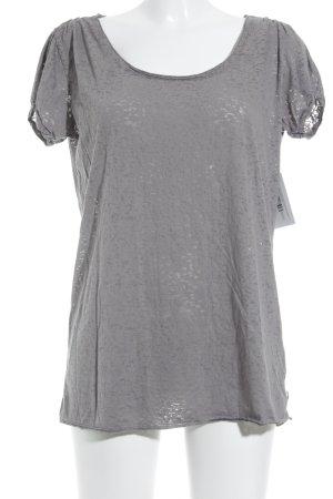 Maison Scotch T-Shirt grau-silberfarben minimalistischer Stil