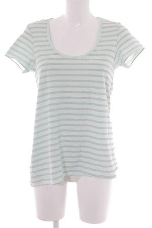 Maison Scotch T-Shirt graugrün-grau Streifenmuster Casual-Look
