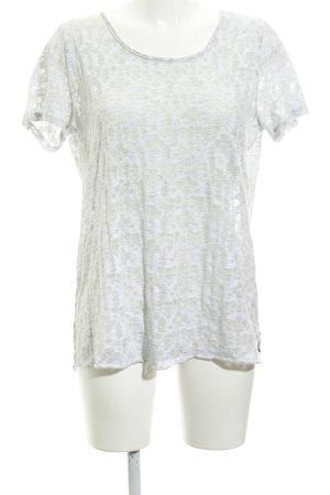Maison Scotch T-Shirt hellgrau grafisches Muster Casual-Look