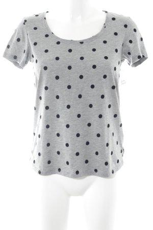 Maison Scotch T-Shirt hellgrau-schwarz Punktemuster Casual-Look