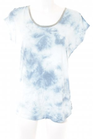 Maison Scotch T-Shirt himmelblau Farbtupfermuster Casual-Look