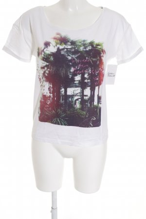 Maison Scotch T-Shirt Inside-Out-Druck Street-Fashion-Look