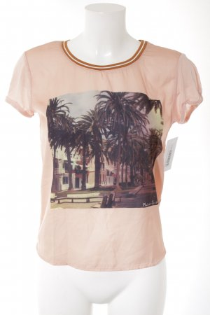 Maison Scotch T-Shirt lachs Motivdruck Beach-Look