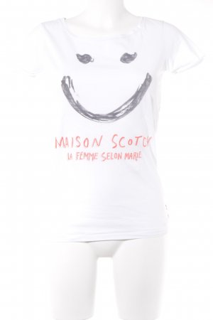 Maison Scotch T-Shirt Motivdruck College-Look