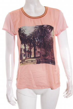 Maison Scotch T-Shirt Motivdruck Logo-Applikation