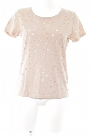 Maison Scotch T-Shirt rosé Sternenmuster Casual-Look