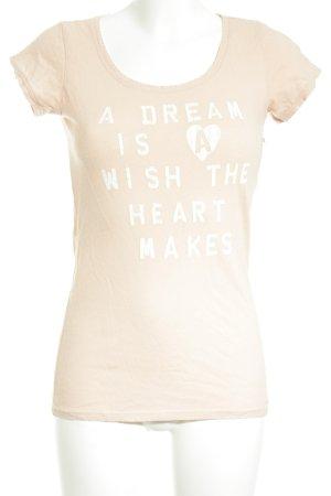 Maison Scotch T-Shirt roségoldfarben-weiß platzierter Druck Casual-Look