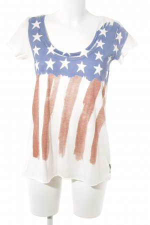 Maison Scotch T-Shirt Sternenmuster Casual-Look