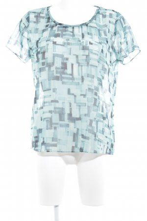 Maison Scotch T-Shirt türkis-kadettblau abstraktes Muster Casual-Look