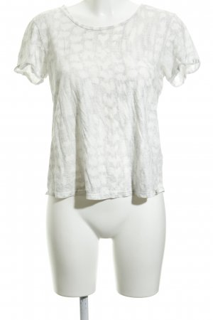 Maison Scotch T-Shirt wollweiß-hellgrau Farbverlauf Casual-Look