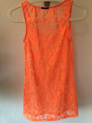 Maison Scotch Mesh Shirt neon orange-orange