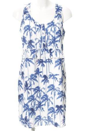 Maison Scotch Trägerkleid weiß-blau Beach-Look