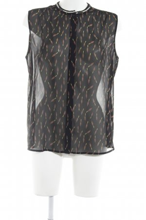 Maison Scotch Transparenz-Bluse abstraktes Muster Hippie-Look