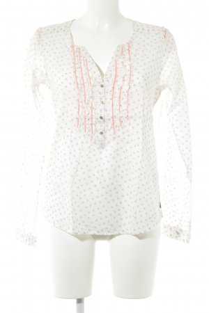 Maison Scotch Transparenz-Bluse Monogram-Muster Casual-Look