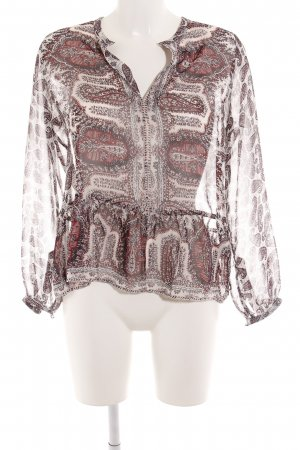 Maison Scotch Transparenz-Bluse Paisleymuster Casual-Look