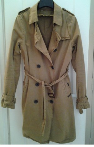 MAISON SCOTCH Trenchcoat sandbraun Street-Fashion-Look Damen Gr. DE 34 Mantel