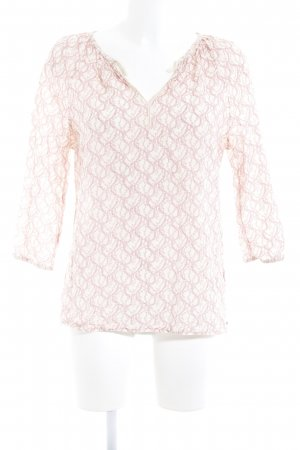 Maison Scotch Tunikabluse hellbeige-rosa florales Muster Boho-Look