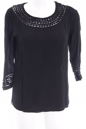 Maison Scotch Tuniekblouse zwart casual uitstraling