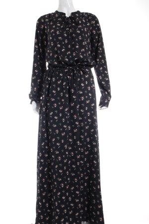 Maison Scotch Tunikakleid schwarz florales Muster Hippie-Look