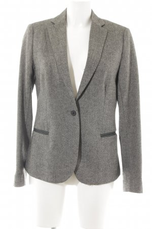 Maison Scotch Tweedblazer camel-schwarz Fischgrätmuster Business-Look